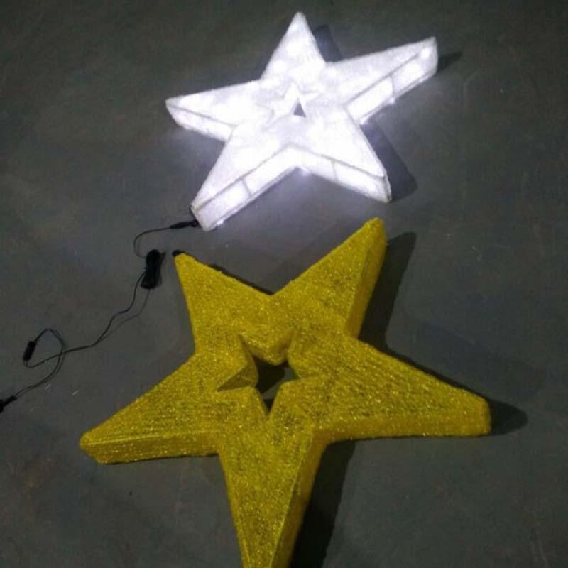 LED hvězda vánoční dekorace Teplá bílá LED světla hvězdy