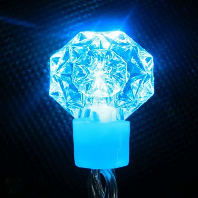 RGB LED String světla Diamantové / Snowflake Dekorativní LED Xmas Světla