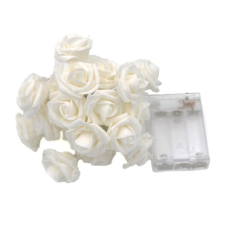 10 / 20LEDs Baterie s LED diodami Rose Flower String Lights Vánoční víla Light Valentine Wedding Holiday Party Decoration