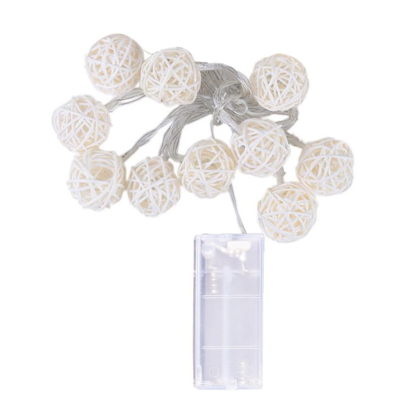 10 LED světelné řetězec 1.2M Pohádka girlanda poháněná venkovní Teplá bílá Pro Xmas festival svatební party dekorace