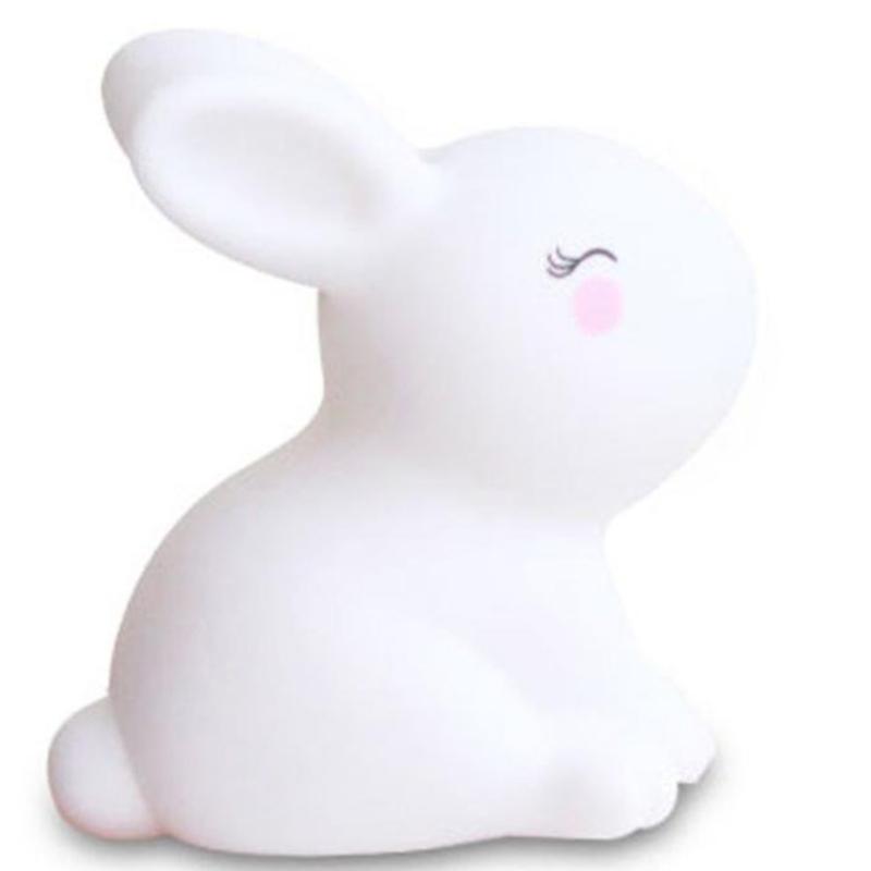 Udržujte lepidlo malé bílé králičí noční lampy hračka dekorace