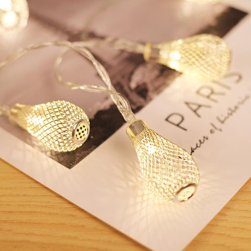 10/20/40 LED Stříbrná svítidla, Vánoční rozprávková lampa, Dutá kapka lampy na svíčku pro Xmas Wedding Festival Decoration Velikost: Golden 40 LED