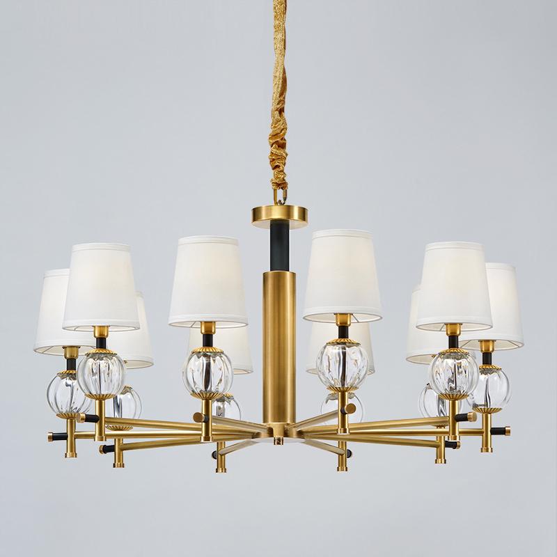 Moderní minimalistická dekorace Ložnice Studie Křišťálový lustr Lustr Km2120