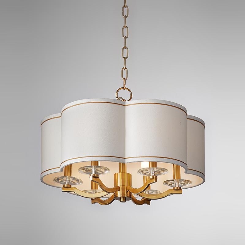 Moderní minimalistický kulatý lustr s ozdobnou ložnicí Km2119