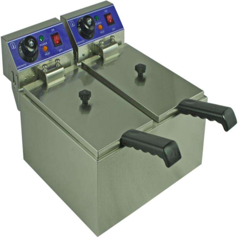 elektrická fritéza dvě nádrže