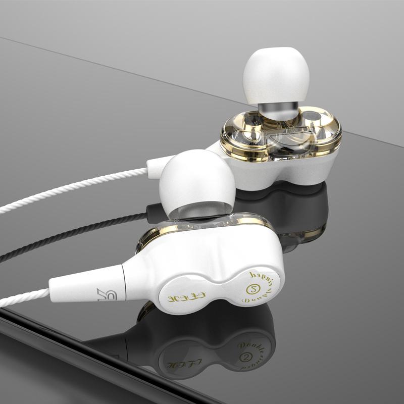 2019 Nový duální ovladač Dobrý hluboký basový stereofonní Hi-Fi kabel do ucha s kabelem OE18
