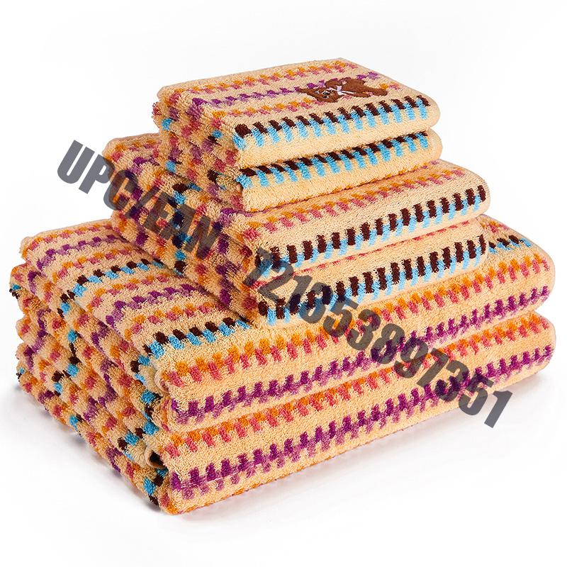 JMD TEXTILE Rychleschnoucí 100% bavlna, Little Bear Cartoon výšivka, Vícebarevné barvené žakárové sady ručníků, 6dílná sada (oranžová)