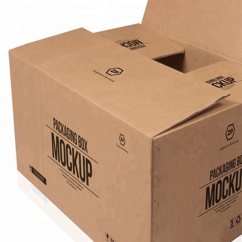 - vybouchne to na zakázku velké 5 vrstev logo značky tištěné kraft papír vak na poštu velké krabici
