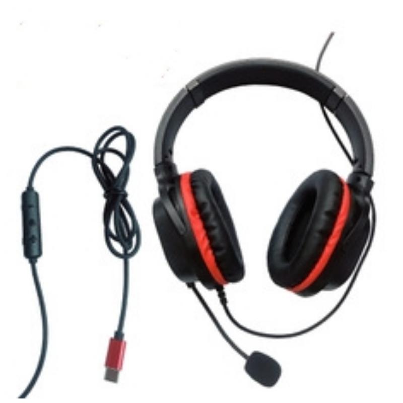 Přizpůsobená velkoobchodní sluchátka s mikrofonem s mikrofonem v reálném čase s hudbou pro mobilní telefony typu C s mikrofonem v reálném čase